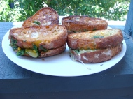 Charred Corn and Gouda Grilled Cheese