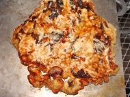 Grilling Pizza!  BBQ, Garbanzo, Caramelized Onion and Gouda Pizza